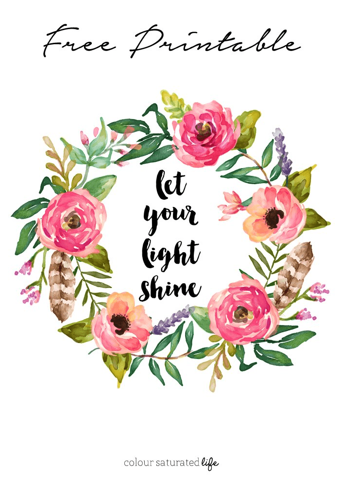 Let Your Light Shine Spring Print