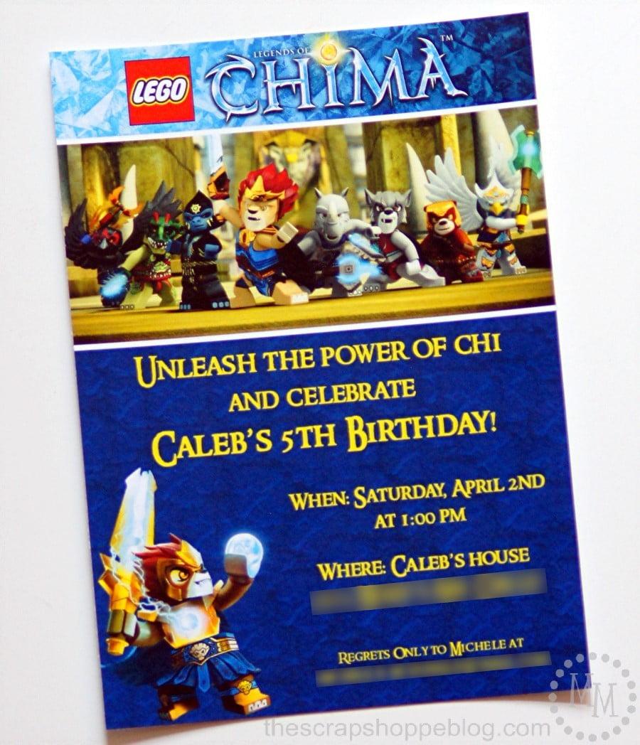 Lego chima birthday invitation the scrap shoppe lego chima birthday party invitations filmwisefo