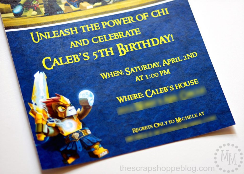 LEGO Chima Birthday Party Invitations