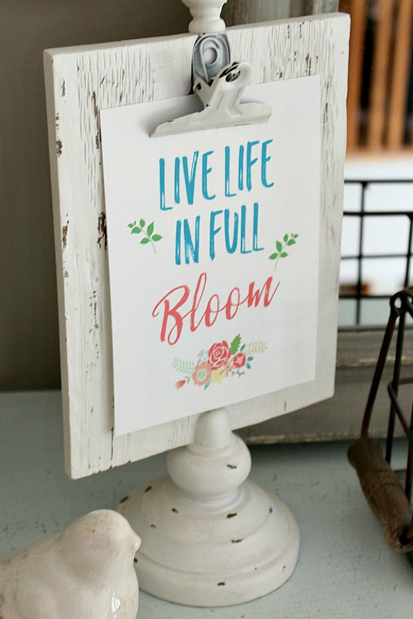 Live Life in Full Bloom Spring Print