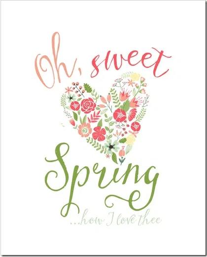 Oh Sweet Spring Print