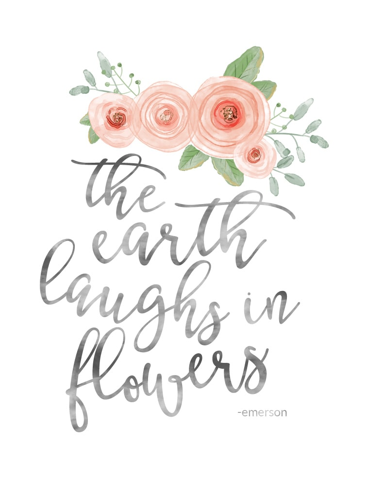 The Earth Laughs in Flowers Spring Print