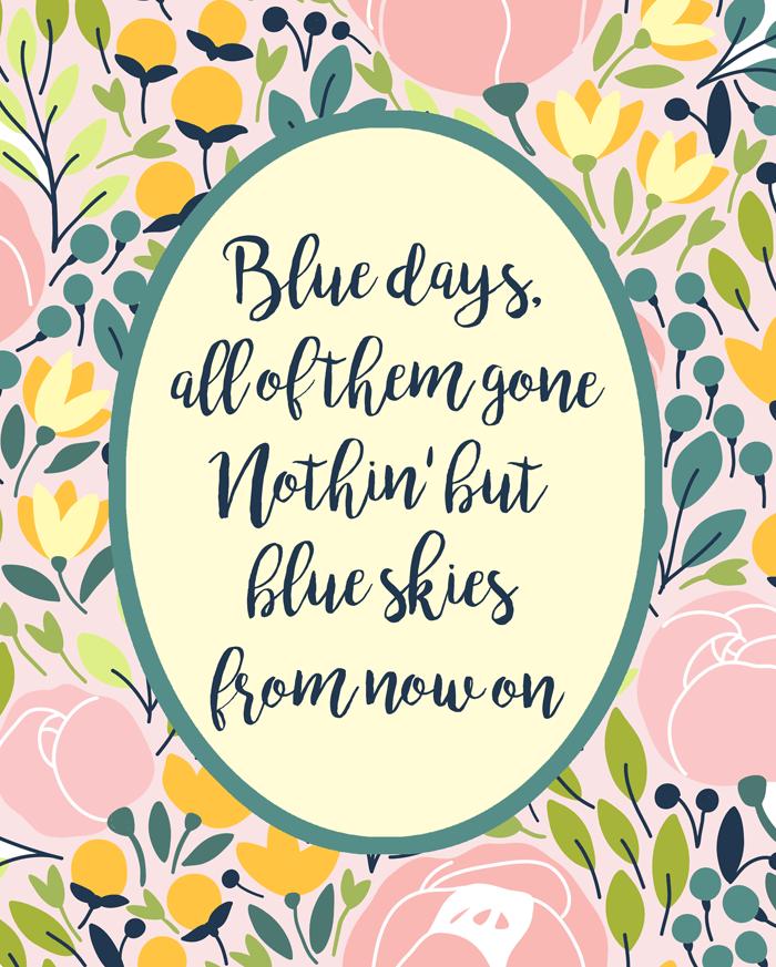 Blue Skies Spring Print