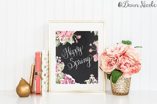 Happy Spring Dark Spring Print