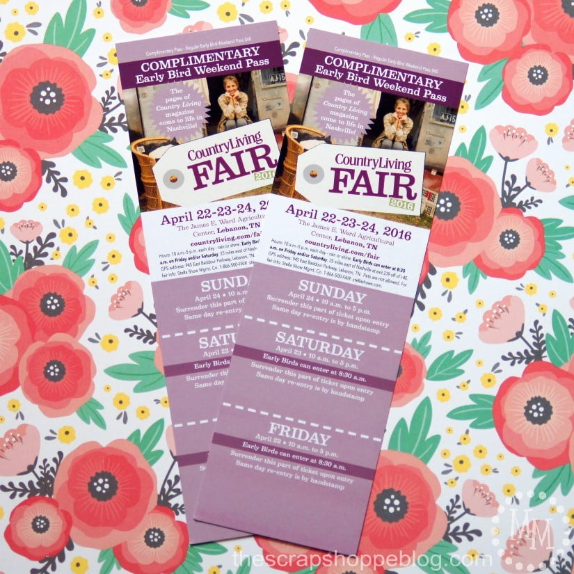 country living fair nashville ticket giveaway 1 winner 2 early bird
