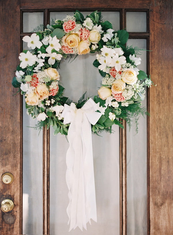 Create Gorgeous DIY Wedding Wreaths For Doors Or Windows.