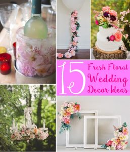 Fresh floral wedding decorations - think outside the vase!