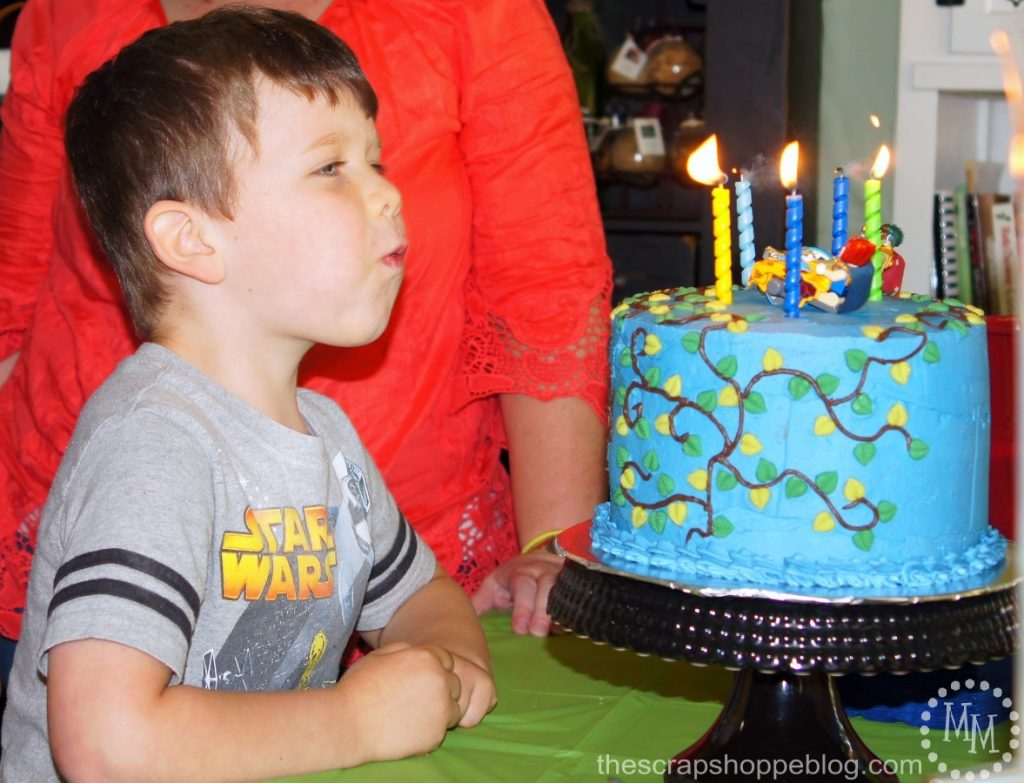 LEGO Legends of Chima Birthday Party Ideas including LEGO Chima birthday cake and Chi waterfall