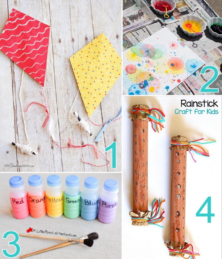 20 Fun Outdoor Crafts for Kids that need minimal supervision