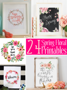 Spring Floral Printables roundup - perfect for creating instant home decor! Just print and frame.