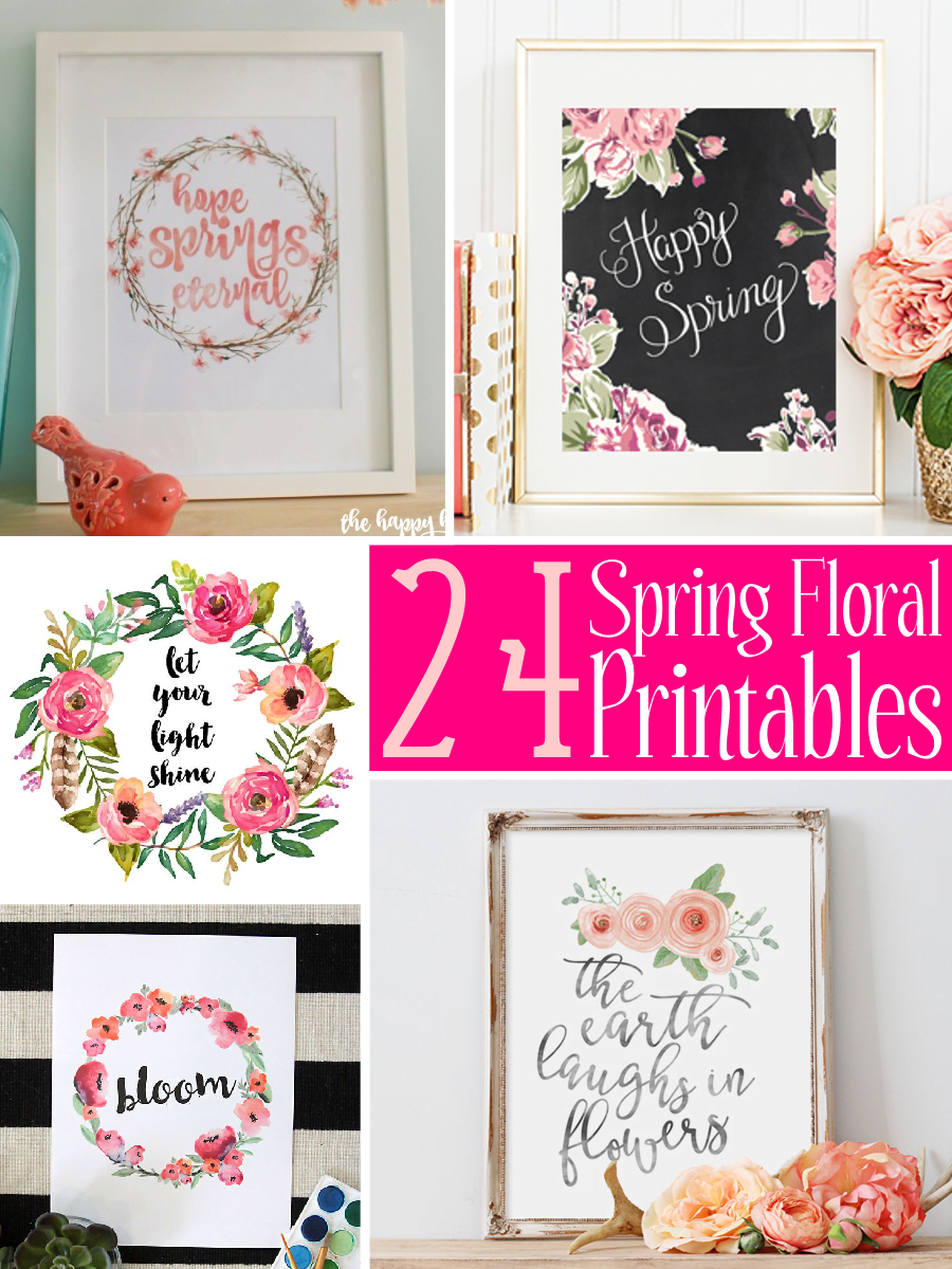 24 Spring Floral Printables - The Scrap Shoppe