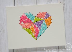 Threaded Ribbon Art - forget string art and all those nails! Make some ribbon art!