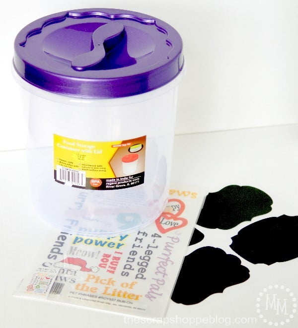 Simple DIY Doggy Treat Container that can be customized AND taken on the road!