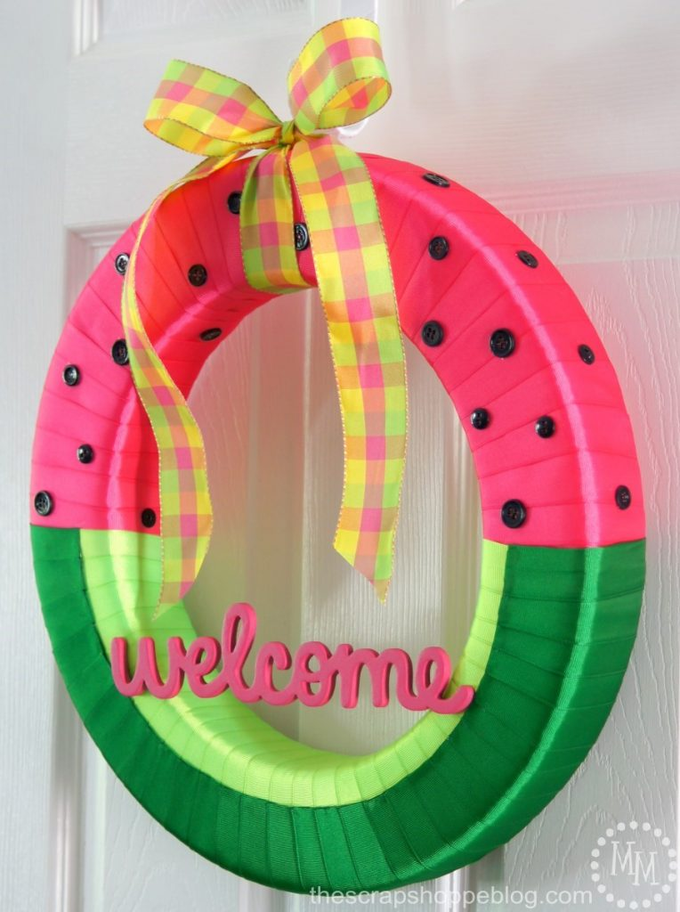 A DIY watermelon wreath is a great way to kick off summer!