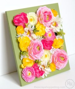 Add faux fresh florals to brighten up your home decor!