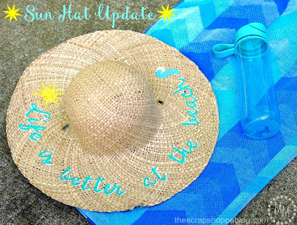 Sun Hat Update with paint! Life is better at the Beach!