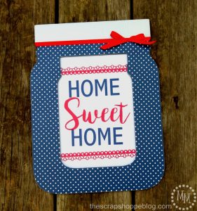 Home Sweet Home Mason Jar Sign made with VINYL!