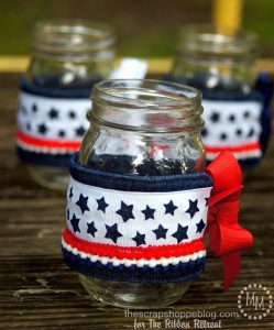 DIY Patriotic Mason Jar Cozies - perfect for summer barbecues!