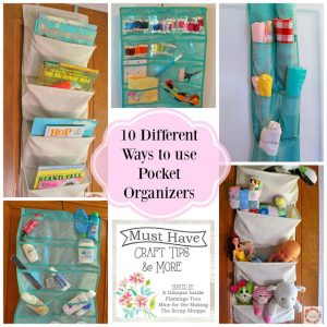 Must Have Craft Tips & More: Organizing with pocket organizers!