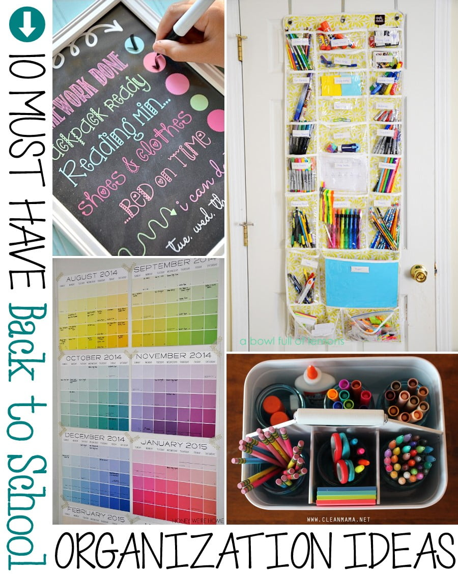 10 must have back to school organization ideas the scrap shoppe - Back to school organization ...