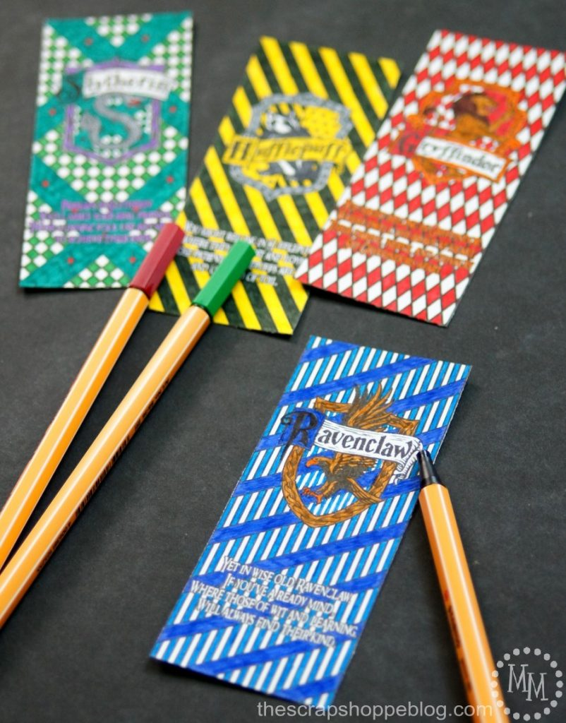 Pick your Hogwarts House! Harry Potter House Coloring Bookmarks