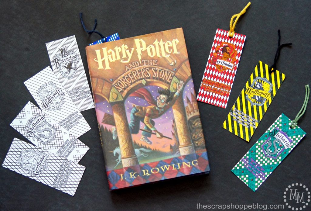 harry potter house coloring bookmarks the scrap shoppe