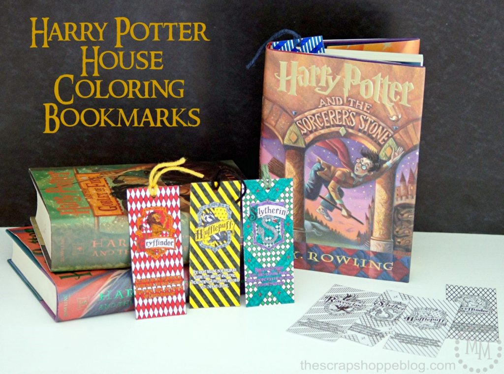 Harry Potter House Coloring Bookmarks-The Scrap Shoppe