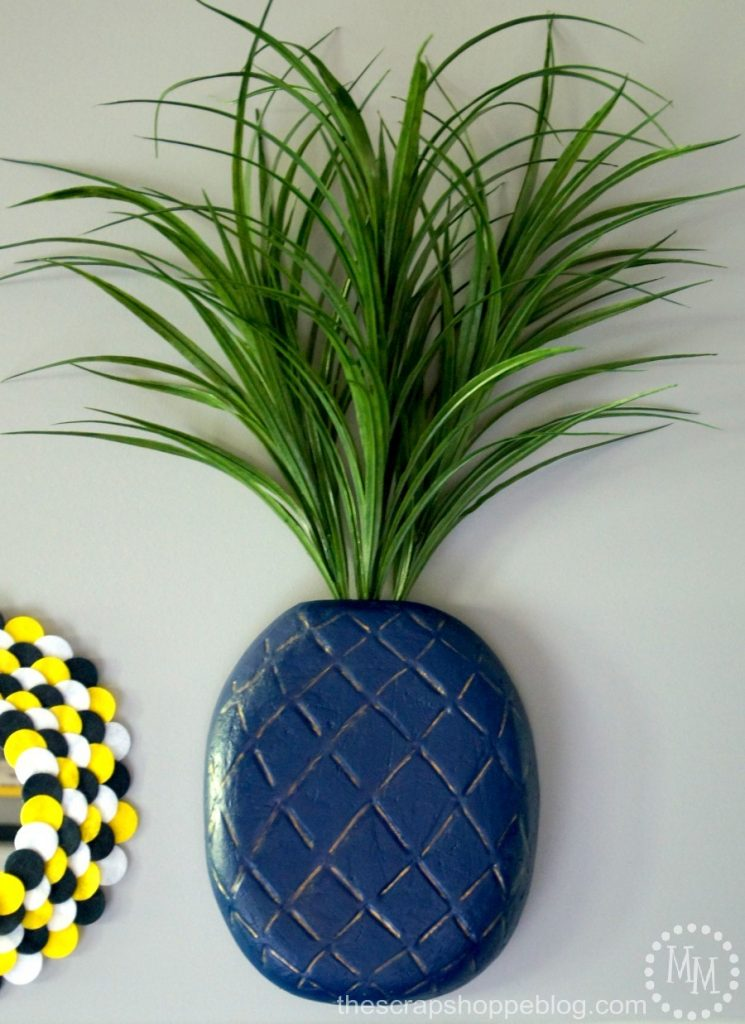 Make a statement with this trendy 3D Pineapple Wall Art. You won't believe what it is made from!