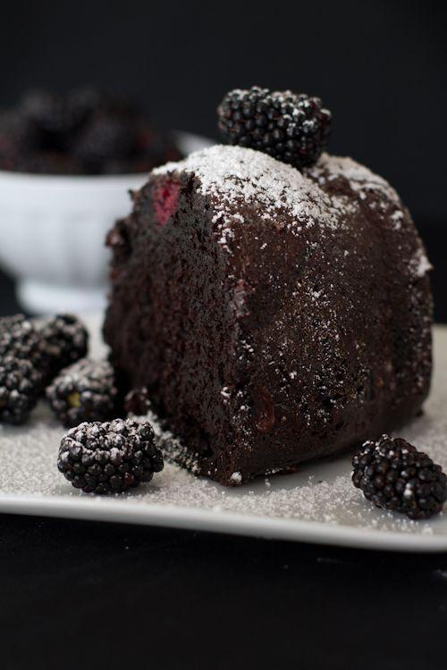 Chasing Delicious Blackberry Chocolate Cake Recipie