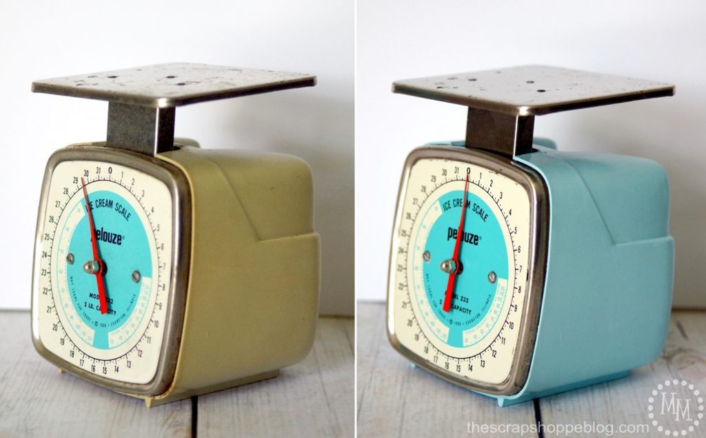 Give an old scale a fresh look with a coat of paint!