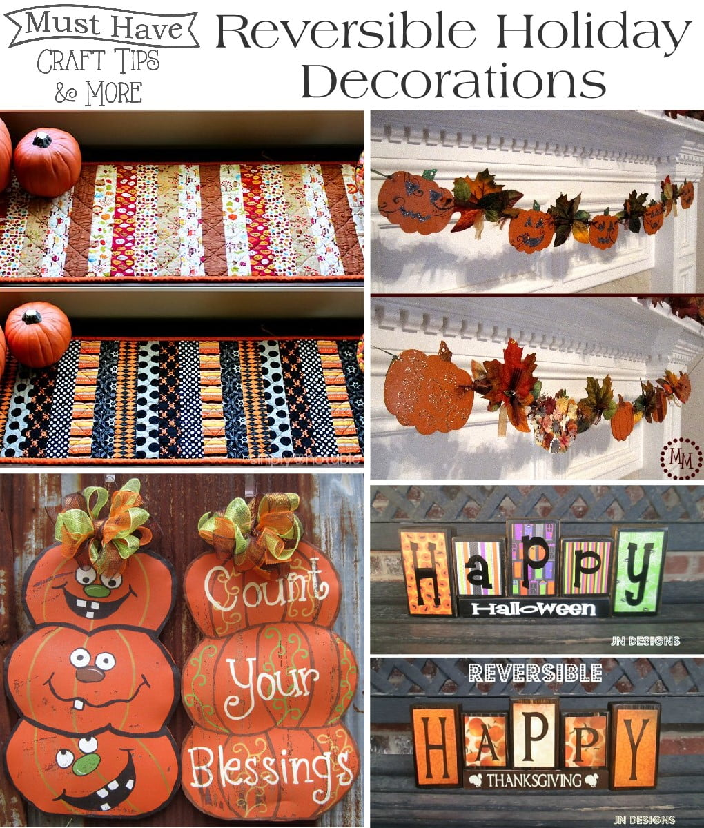 Halloween/fall: reversible decorations   the scrap shoppe
