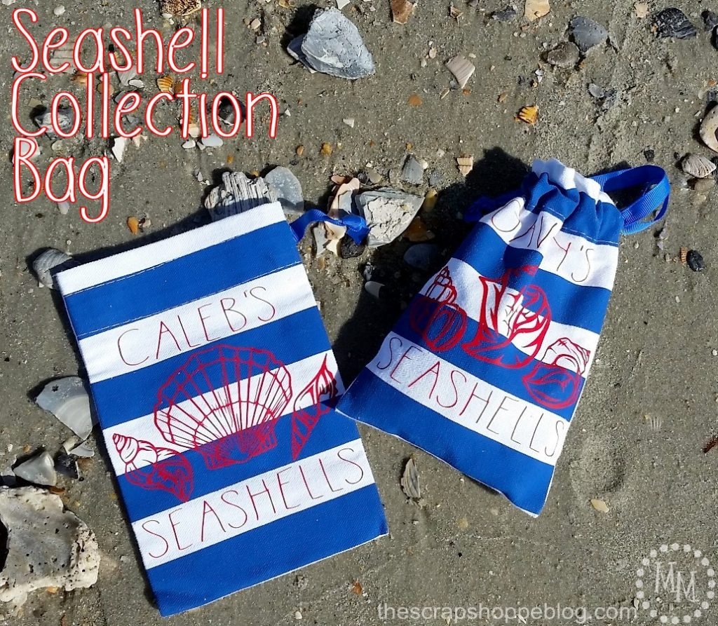 Create a small seashell bag for collecting shells down by the seashore. ;) FREE SVG file!