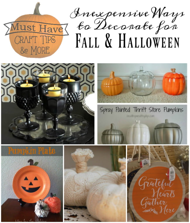 Craft Tips and More! Inexpensive ways to decorate for Halloween and fall.