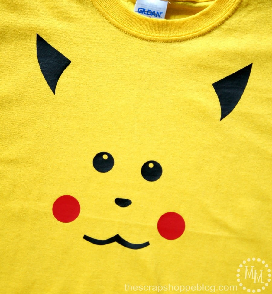 DIY your own Pokémon Pikachu shirt with heat transfer vinyl. No cutting machine needed!