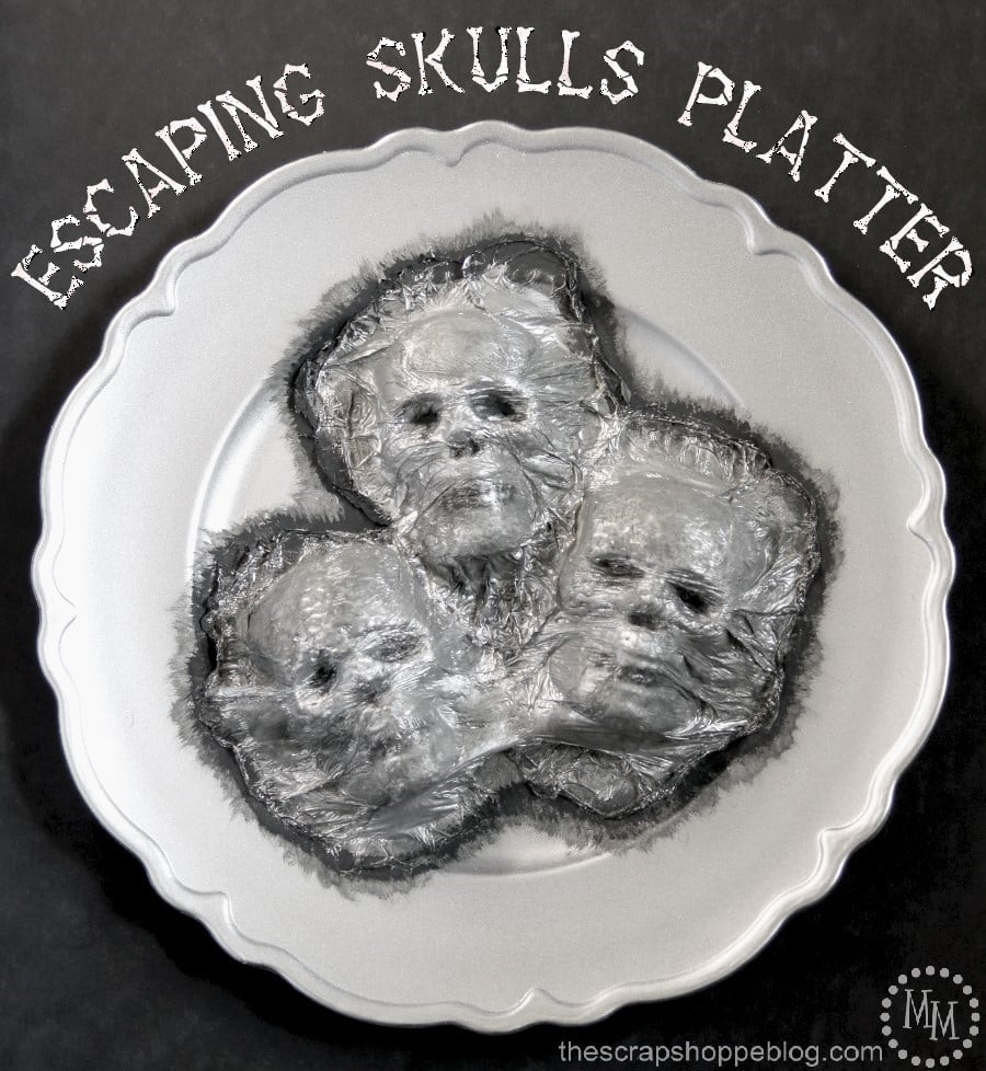 Escaping Skulls Platter - easier to make than you might think and a super spooky addition your home decor!