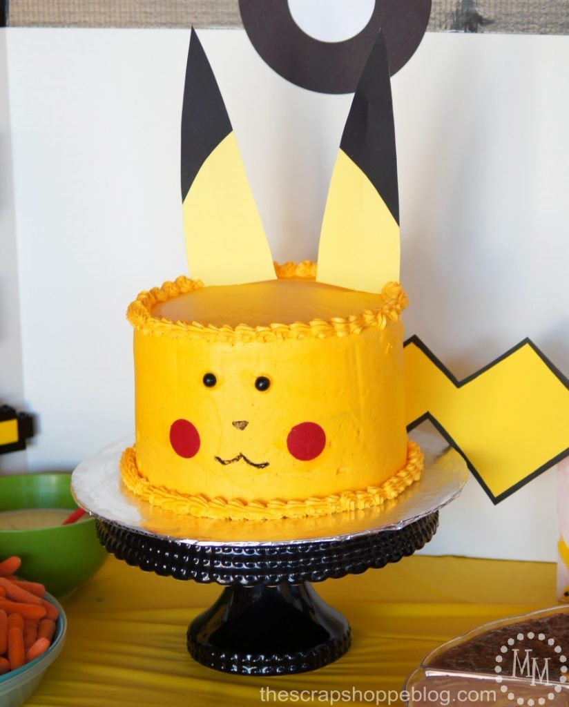 Pokemon Birthday Party featuring a Pikachu cake and some SUPER fun Pokemon party games!