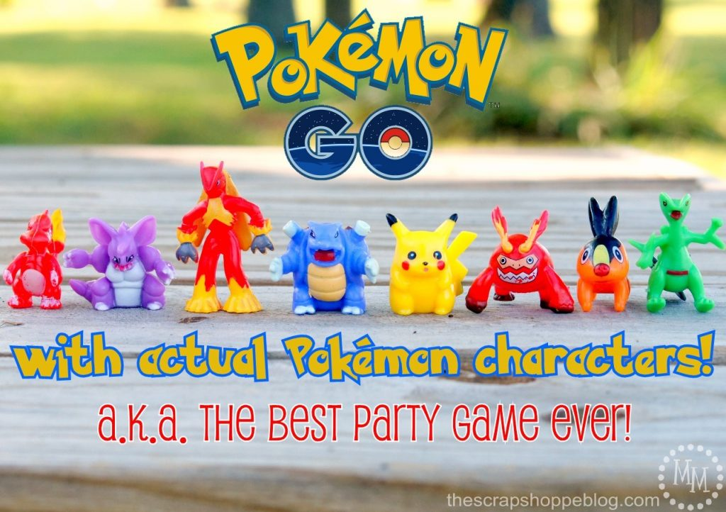 Play Pokemon GO with actual Pokemon characters for the BEST party game EVER!