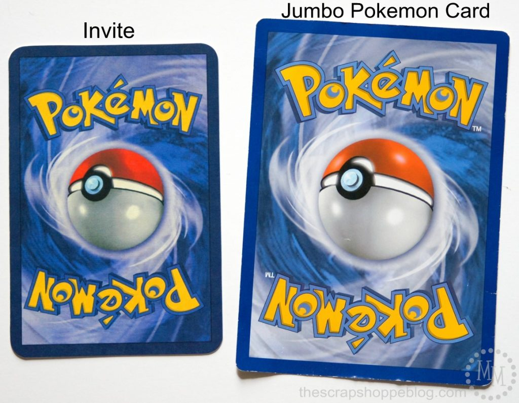 Pokemon Card Birthday Invitation on scrap aluminum