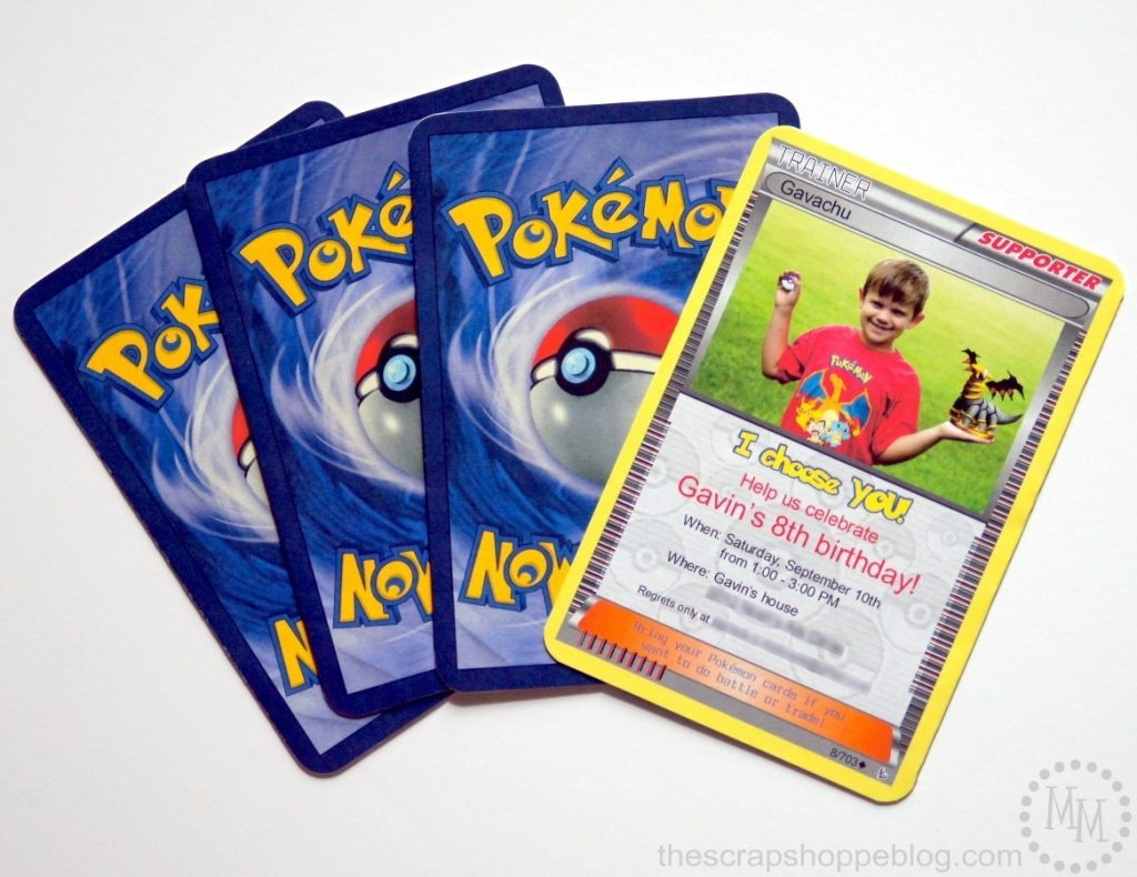 photo regarding Printable Pokemon Trading Cards identify Pokémon Card Birthday Invitation - The S Shoppe