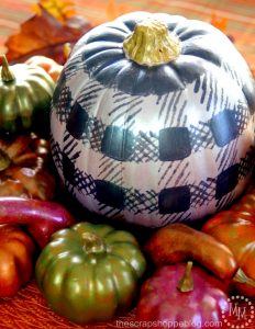 Metallic Gourds Centerpiece