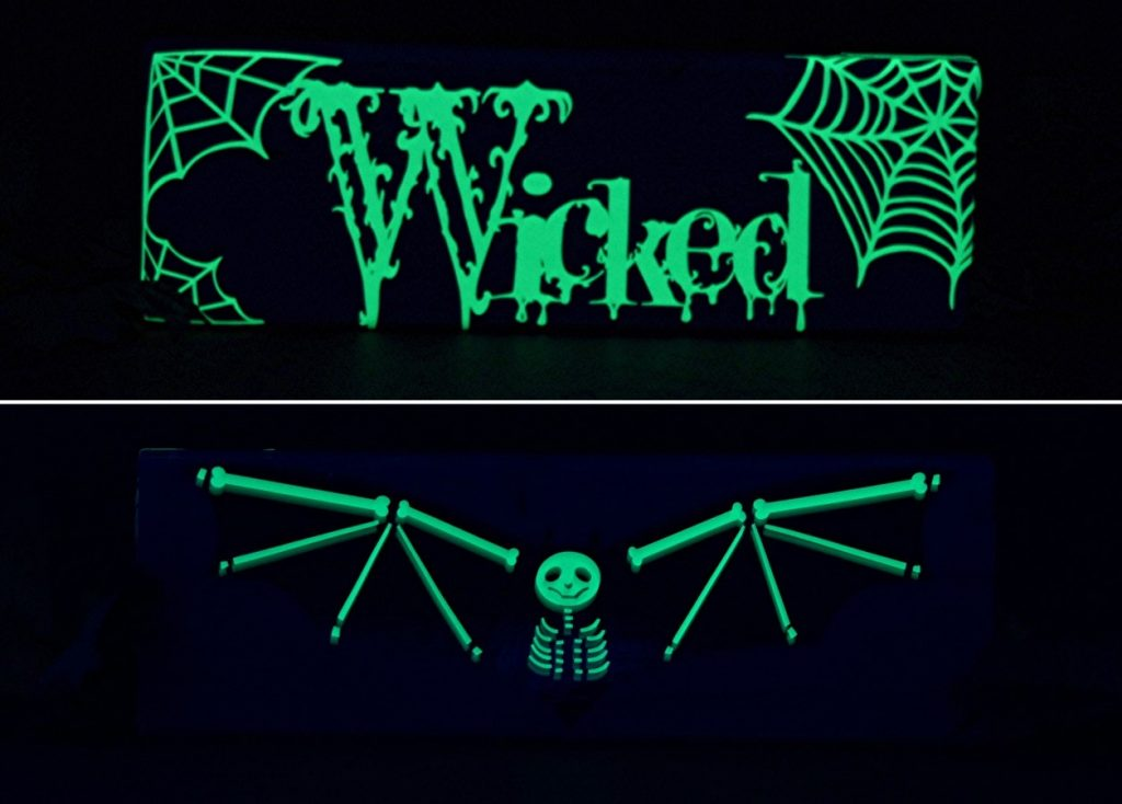 Glow in the Dark vinyl is perfect for creating Halloween decorations! Like this spookily fun Wicked Halloween sign!