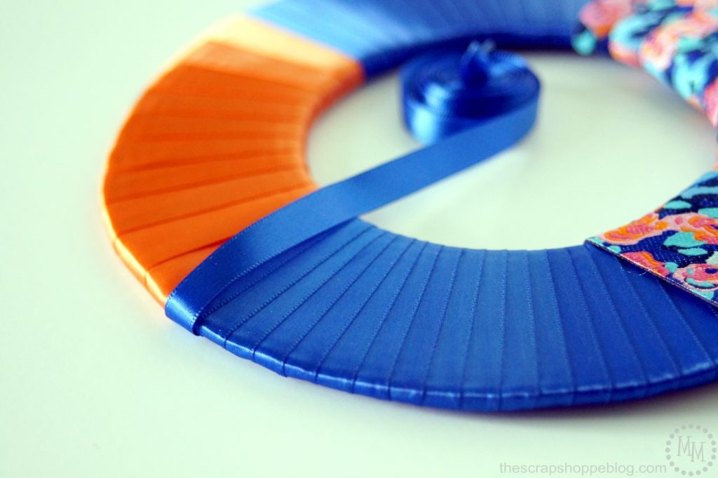 Use ribbon to make custom picture frames!