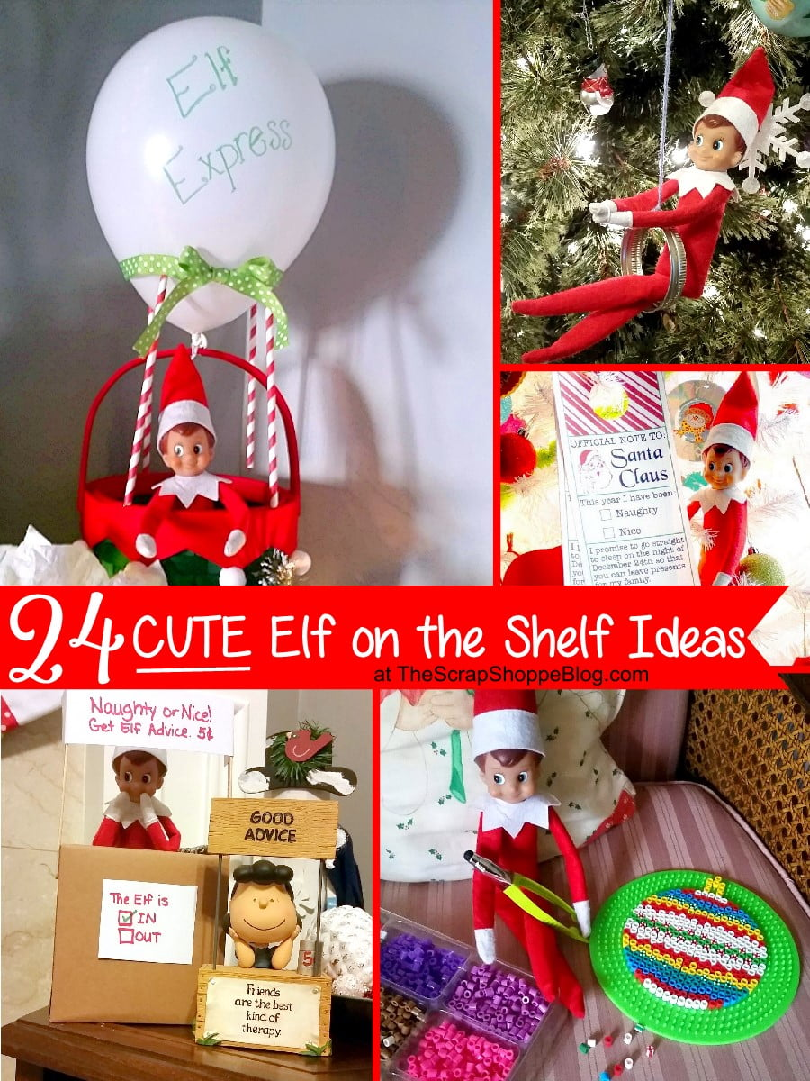 24 cute elf on the shelf ideas the scrap shoppe