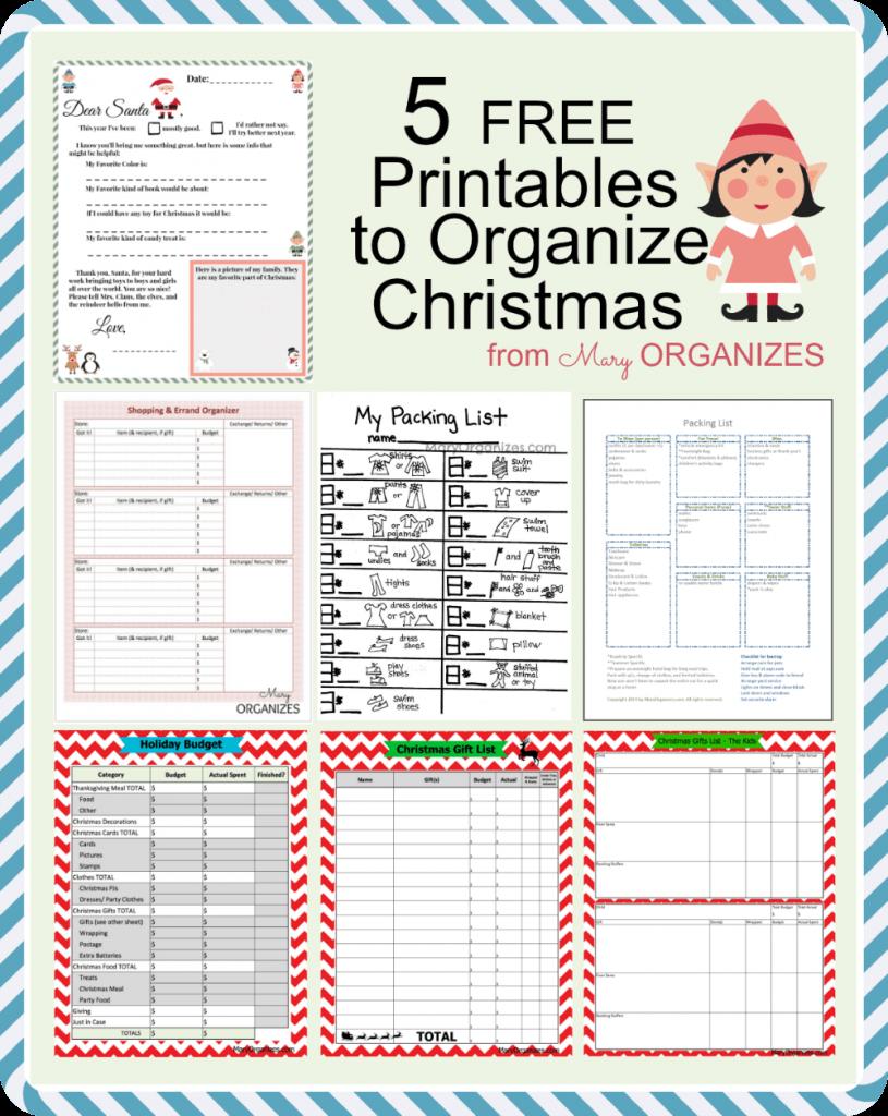 Christmas List Organizer.Christmas Planner Free Printables The Scrap Shoppe