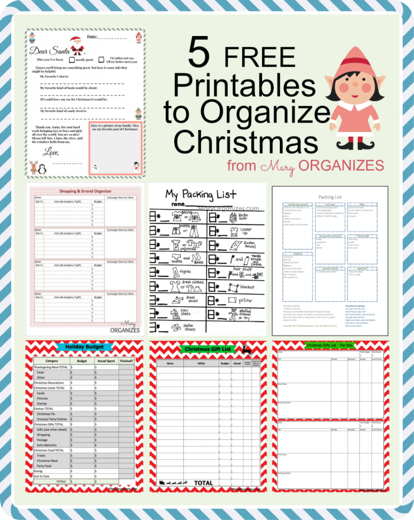 picture regarding Organization Printables named Xmas Planner Free of charge Printables - The S Shoppe