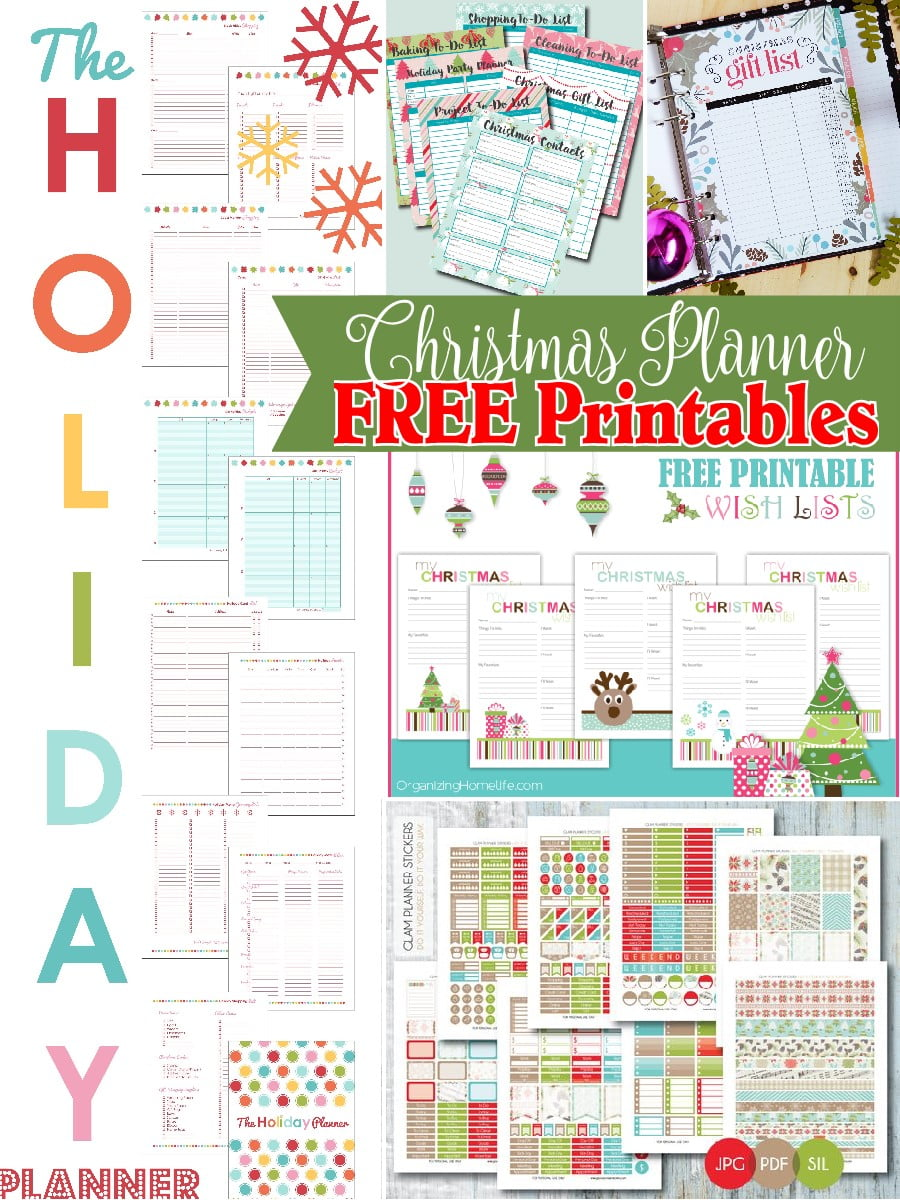 picture about Free A5 Planner Printables referred to as Xmas Planner No cost Printables - The S Shoppe