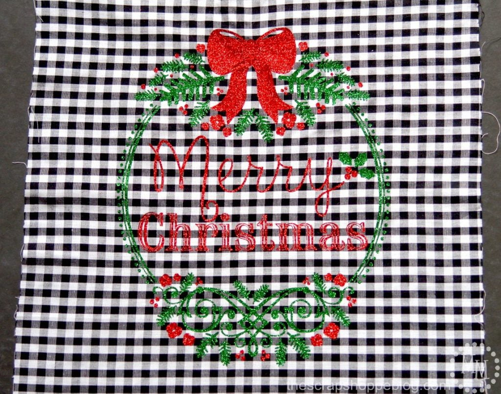 Merry Christmas Embroidery Hoop The Scrap Shoppe