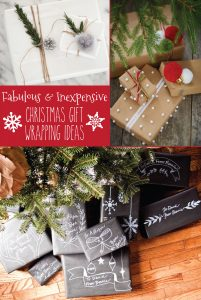 Fabulous and inexpensive Christmas gift wrap ideas!