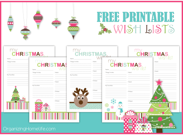 Free Printable Wish Lists