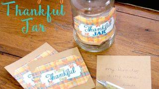 Thanksgiving Thankful Jar